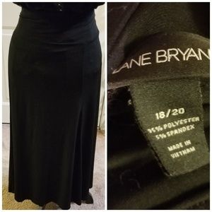 Lane Bryant sleek black skirt
